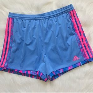 Adidas Climalite Pink and Blue Sports Shorts
